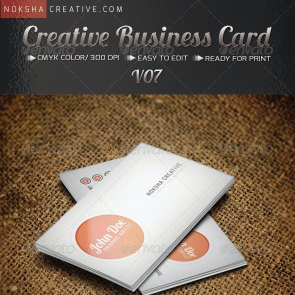 Creative Business Card V07