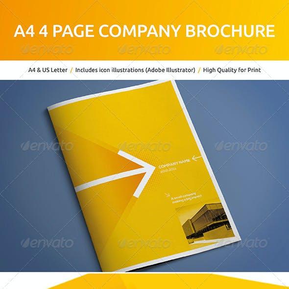A4 4 Page Company Brochure