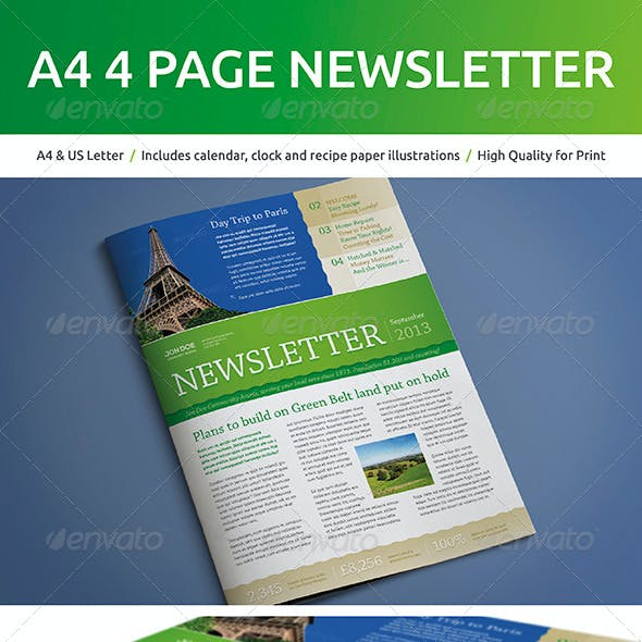 A4 4 Page Newsletter