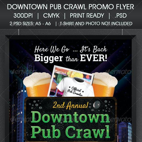 Downtown Pub Crawl Promo Flyer