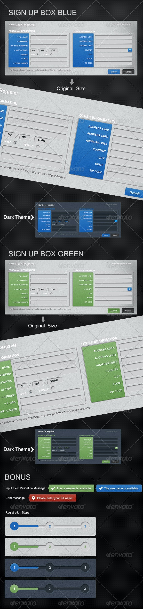 Web Sign Up Form - Forms Web Elements