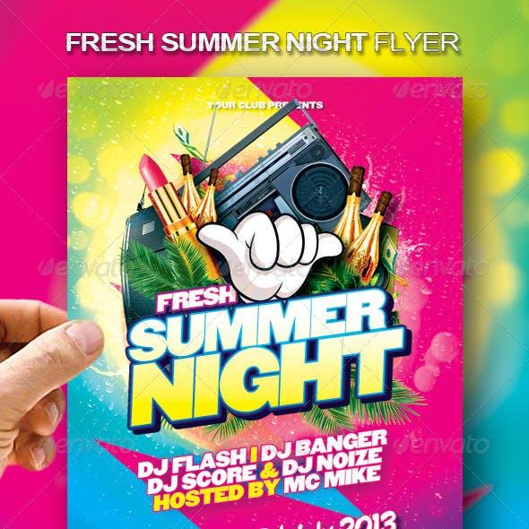 Fresh Summer Night Flyer