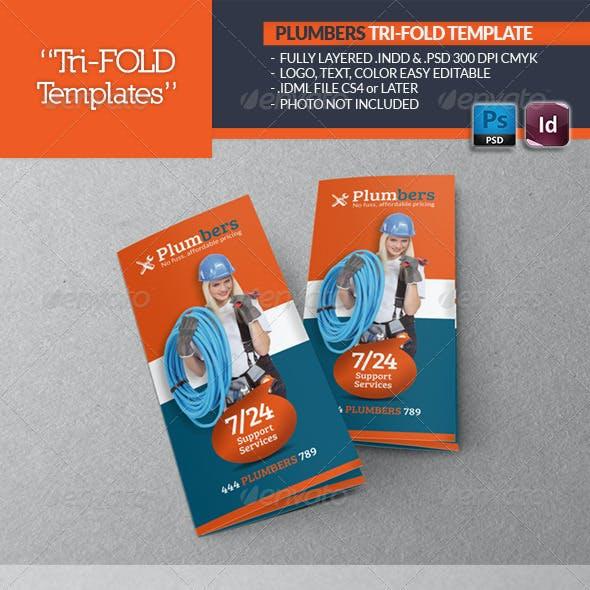 Plumbers Tri-Fold Template