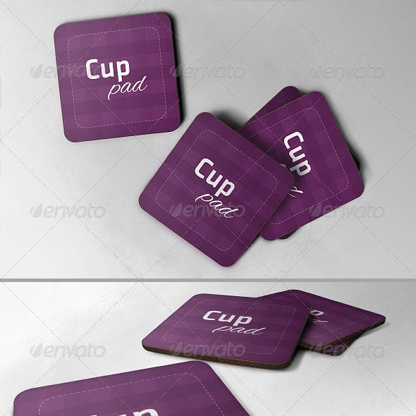 Realistic Cup Pad Mock-up