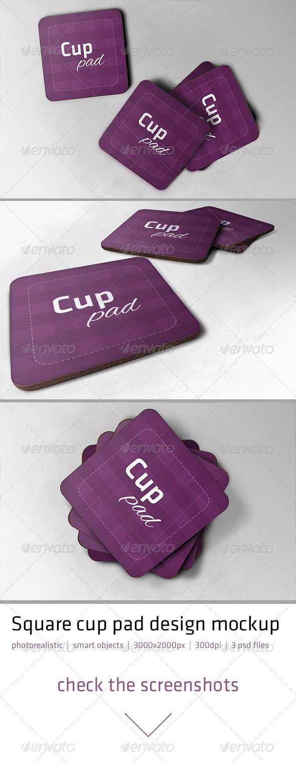 Realistic Cup Pad Mock-up - Miscellaneous Print