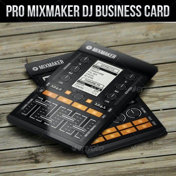 Pro Mixmaker DJ Business Card
