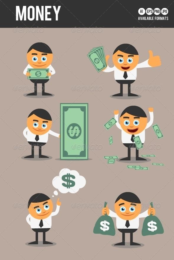 Money - Characters Vectors