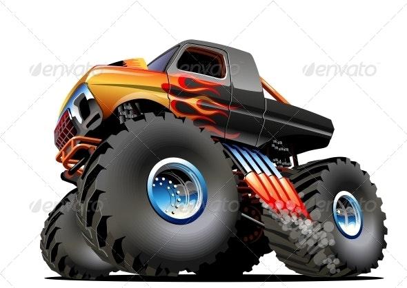 Cartoon Monster Truck By Mechanik Graphicriver