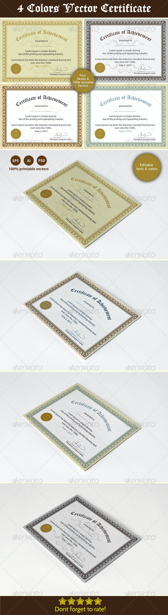 Achievement Certificates - Certificates Stationery