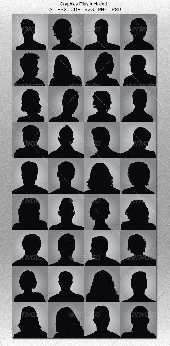 Anonymous Avatar Silhouettes - People Characters