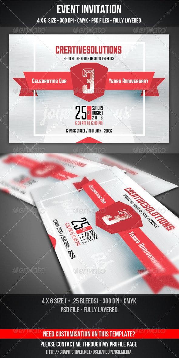 Event Invitation - Cards & Invites Print Templates