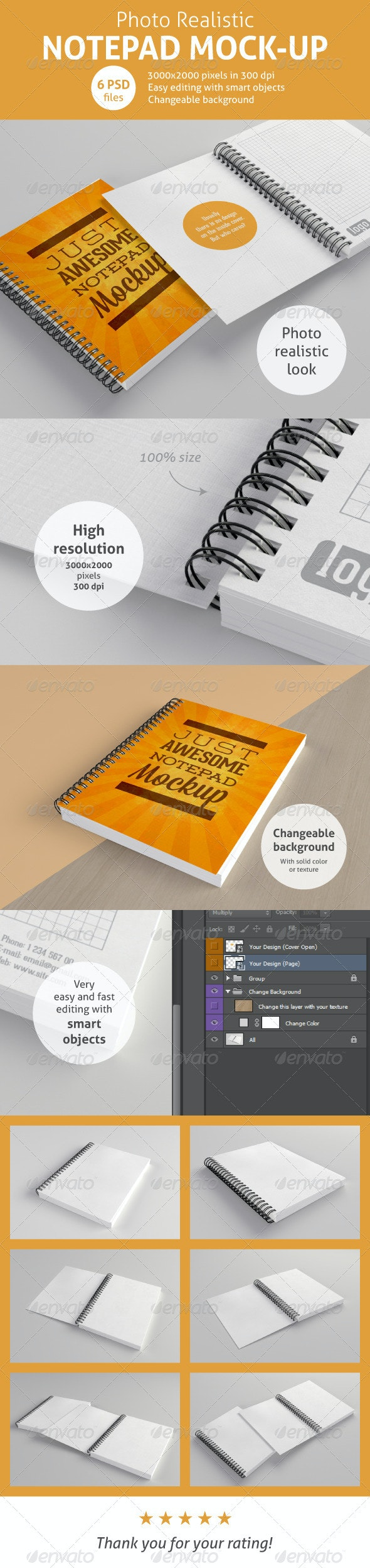 Realistic Notepad Mock-Up - Miscellaneous Print