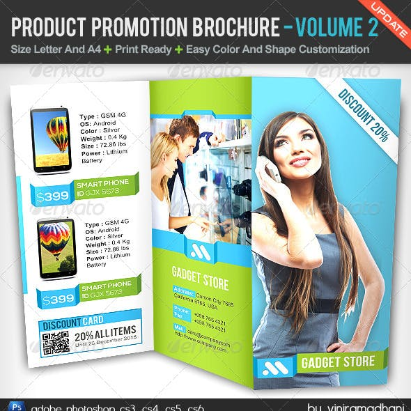 Product Promotion TriFold Brochure   Volume 2