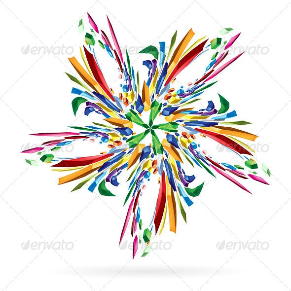 Abstract Colourful Star