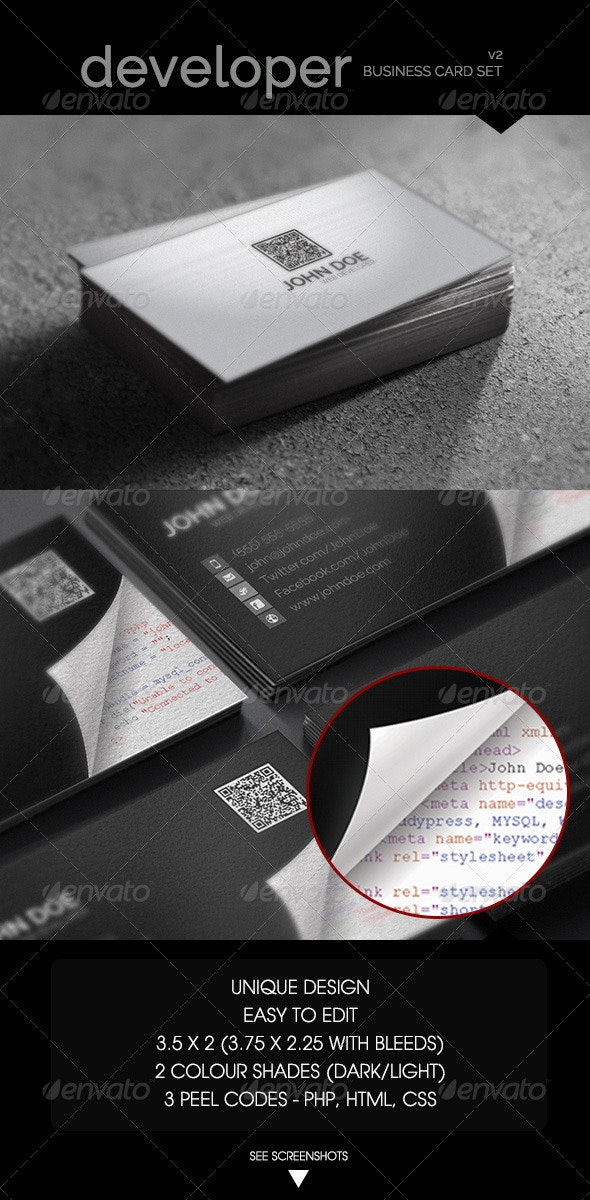 Web Developer - Business Card - Industry Specific Business Cards