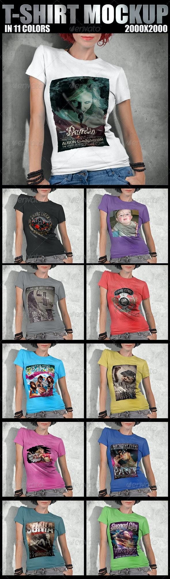 T-Shirt Mockup Design  - T-shirts Apparel