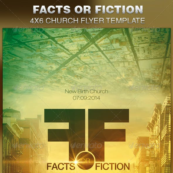 Facts or Fiction Church Flyer Template