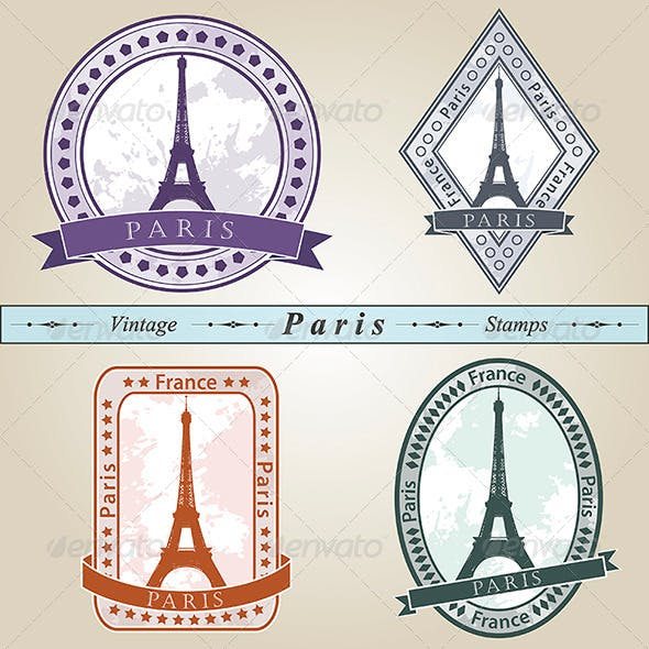 Vintage Stamp Paris