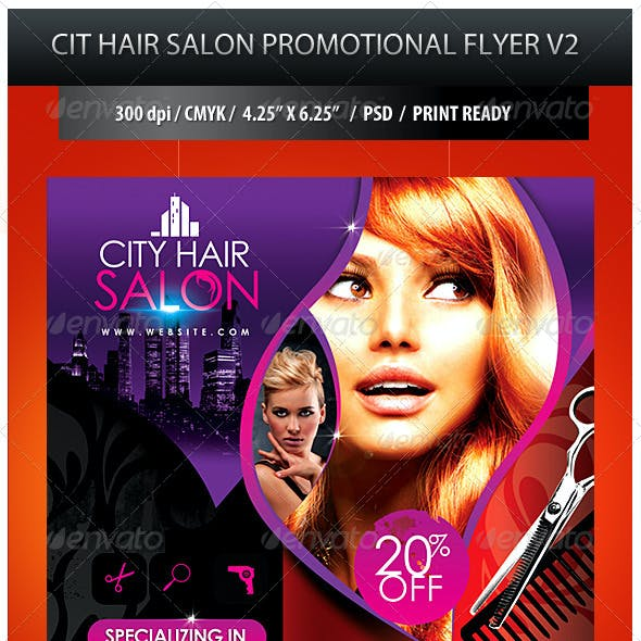City Hair Salon Promotional Flyer V2