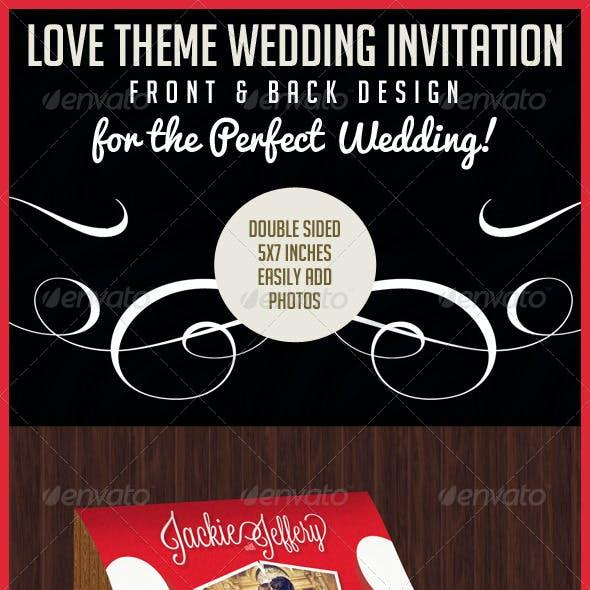 Love Theme Wedding Invitation Card