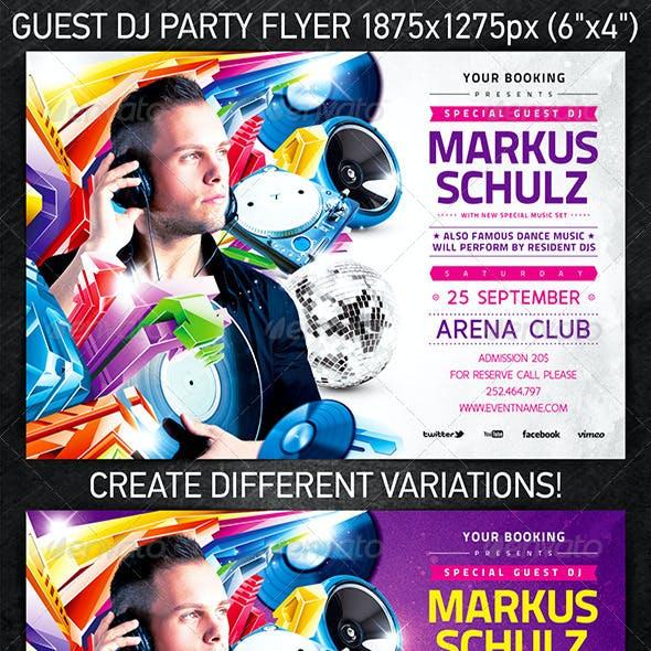 Guest DJ Party Flyer Vol.2
