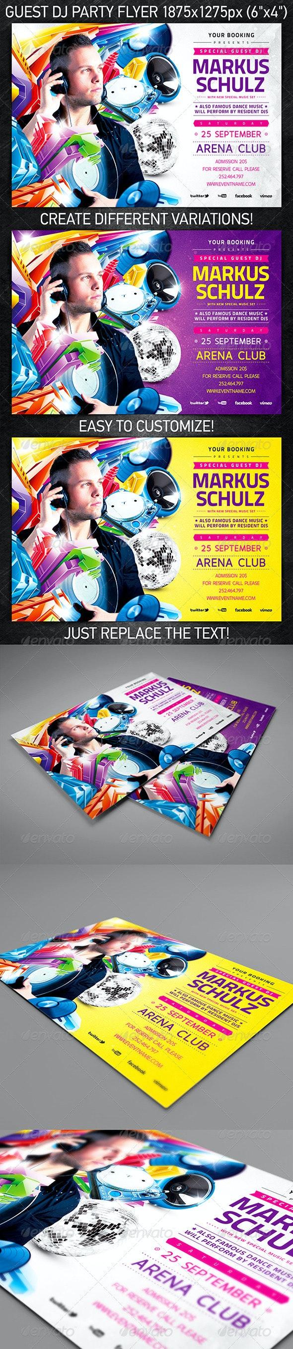 Guest DJ Party Flyer Vol.2 - Clubs & Parties Events
