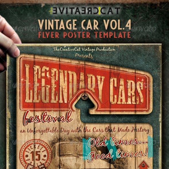 Vintage Car Flyer/Poster Vol. 4