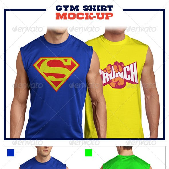 Gym Shirt Mock-Up Pack