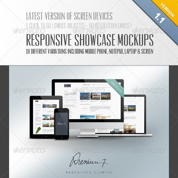 Responsive Showcase Mock-Ups