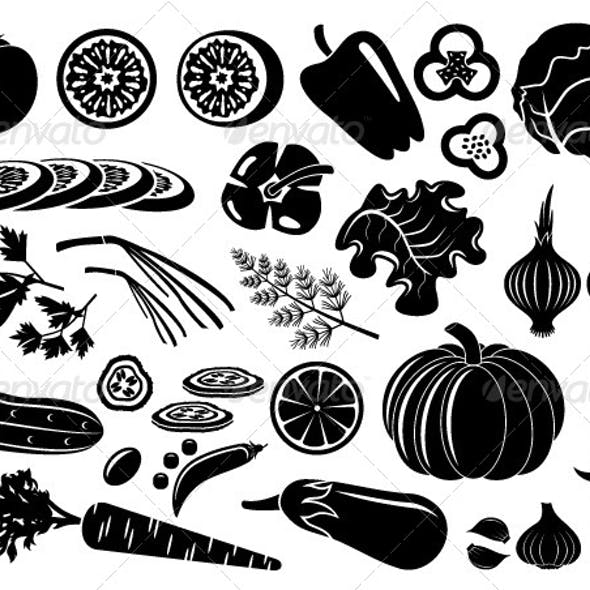 Set of Icons of Vegetables