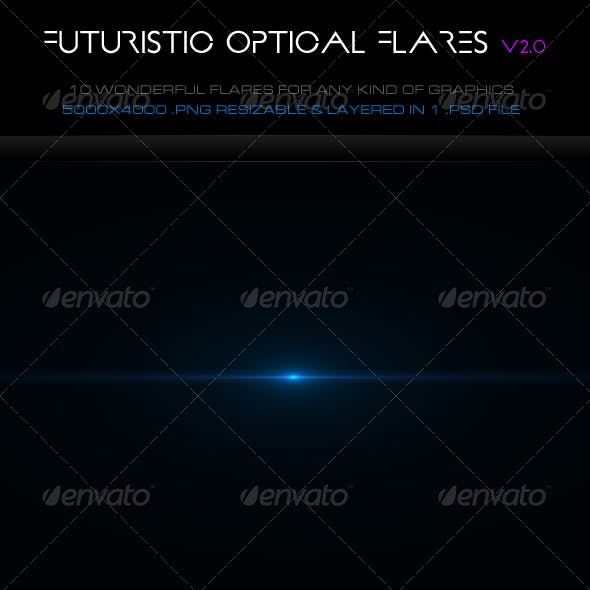 10 Futuristic Optical Flares v2.0