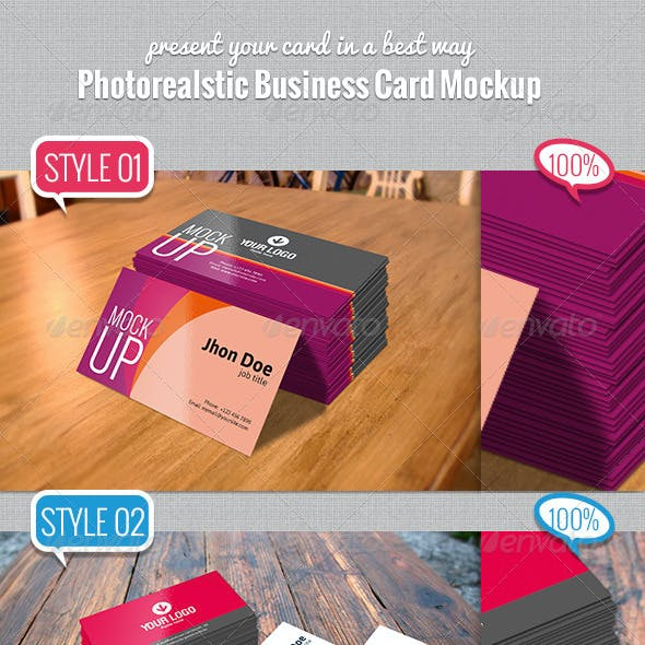 Photorealstic Business Card Mockup