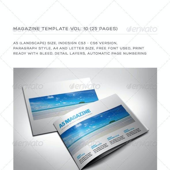 A5 Landscape 25 Pages mgz (Vol. 10)
