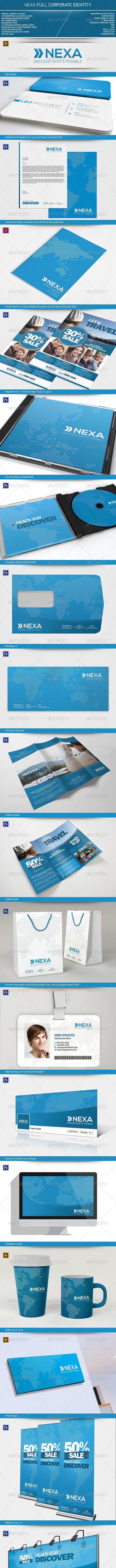 Nexa Full Corporate Identity - Stationery Print Templates