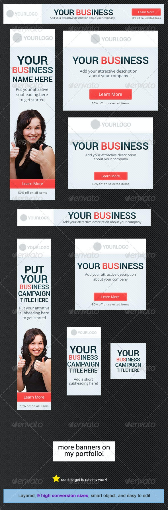 Business Banner Design Template 2 - Banners & Ads Web Elements