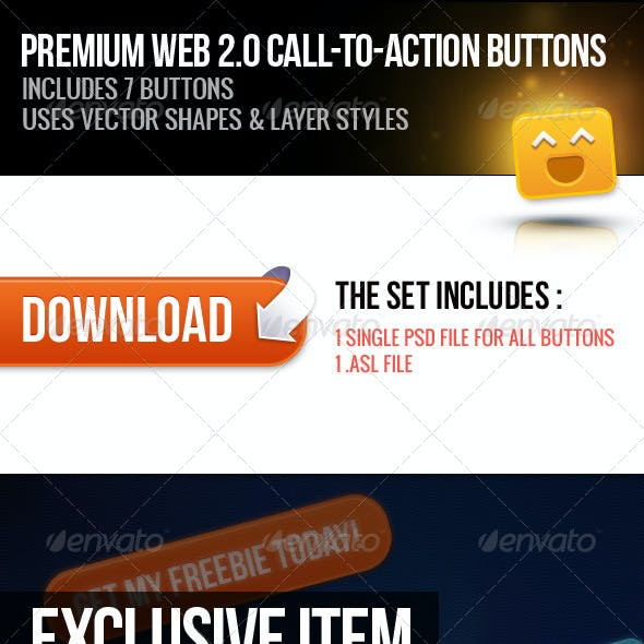 Premium Web 2.0 Call to Action Buttons 02