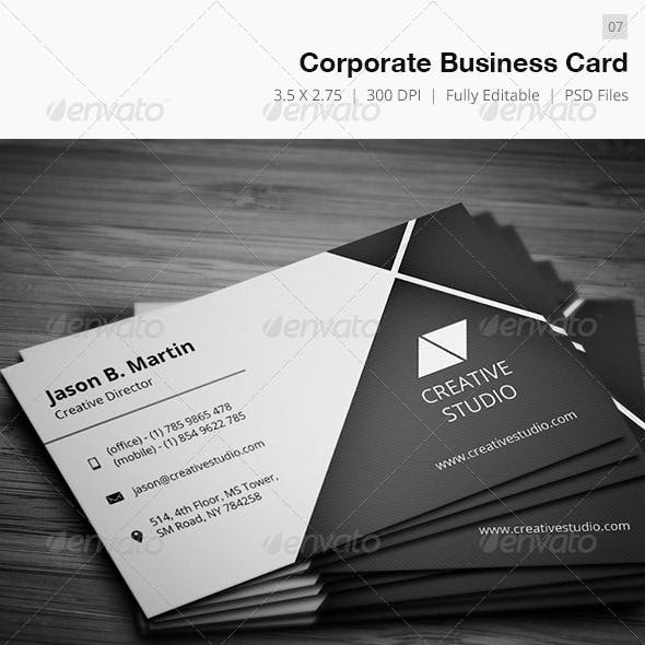 Corporate  Business Card - 07