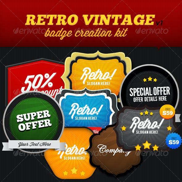 Retro Vintage Badge Creation Kit