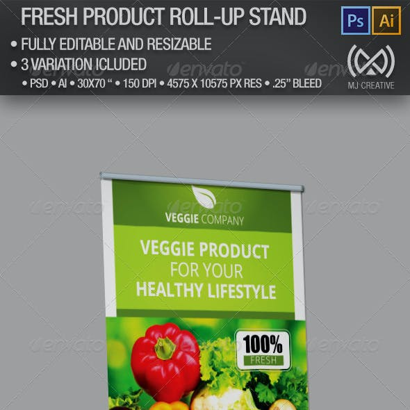 Fresh Product Roll Up Stand Banner