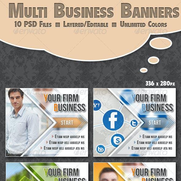Business Banner Multi Color