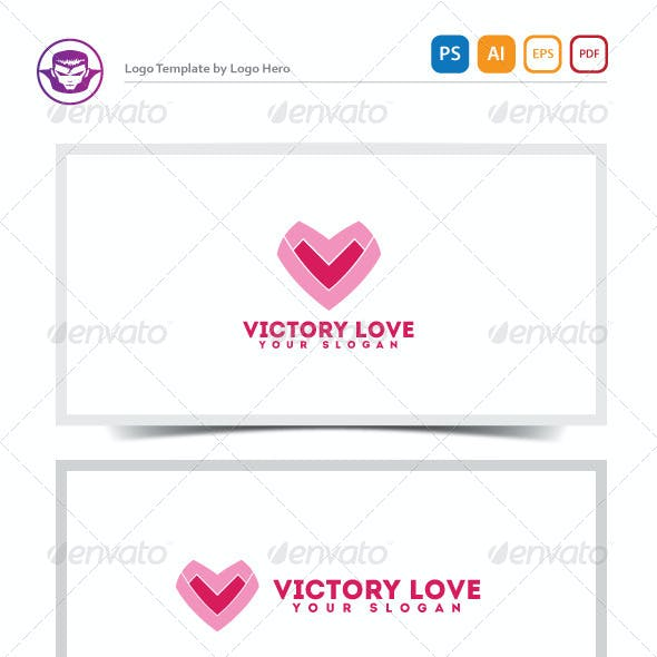 Victory Love Logo Template