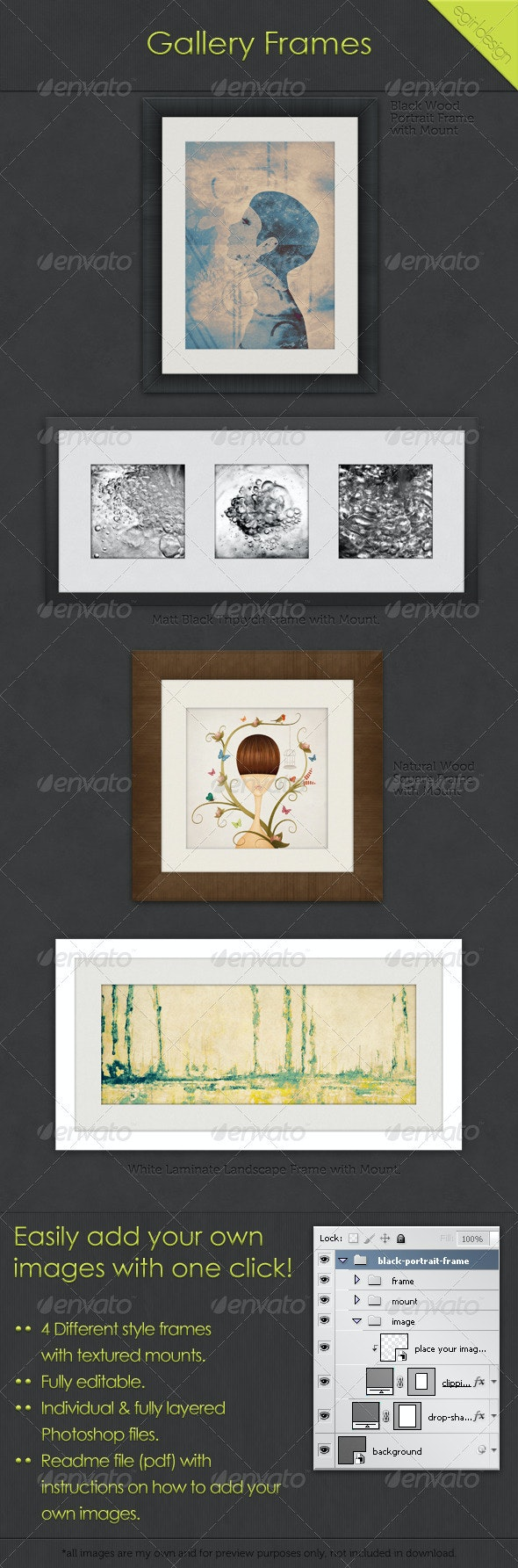 Gallery Frames - Photo Templates Graphics