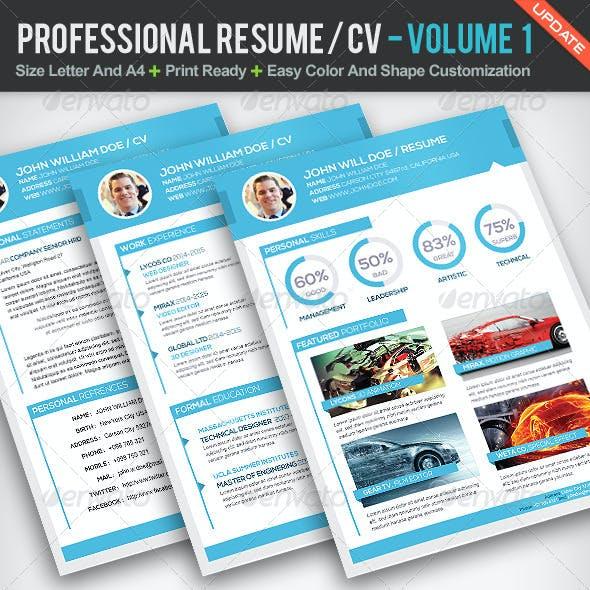 Professional Resume CV | Volume 1