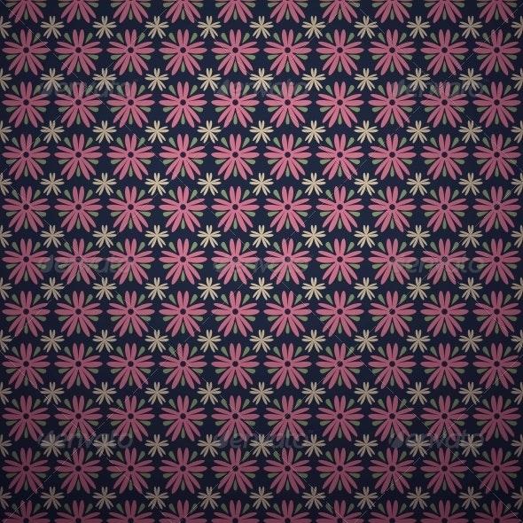 Seamless Classical Dark Pink Flower