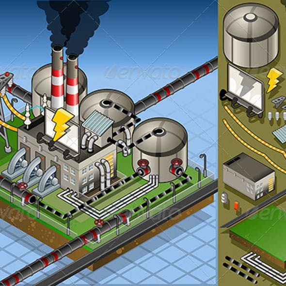 Isometric Petroleum Plant in Production of Energy