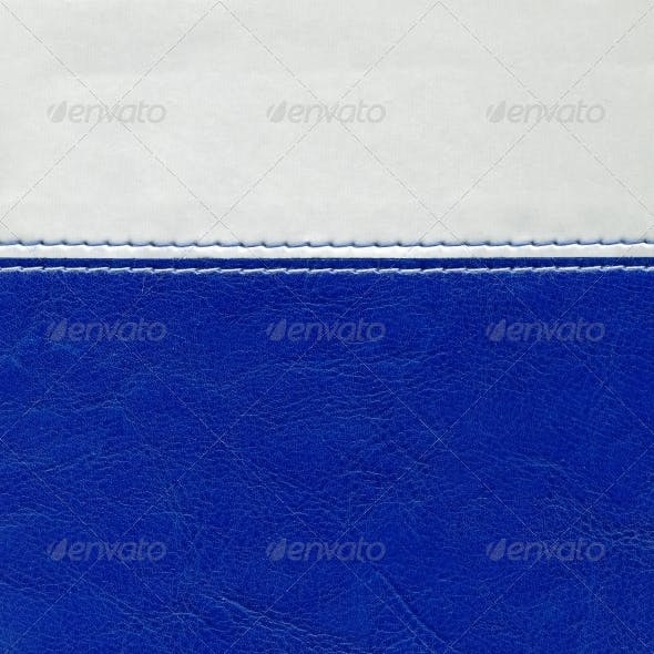 Leatherette blue grey texture