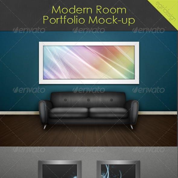 Modern Room Portfolio Mock-Up