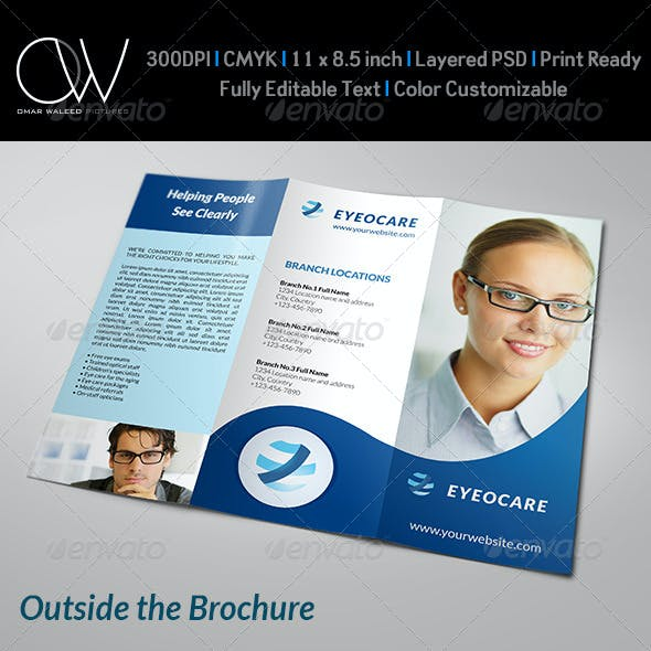 Optometrist & Optician Tri-Fold Brochure Template