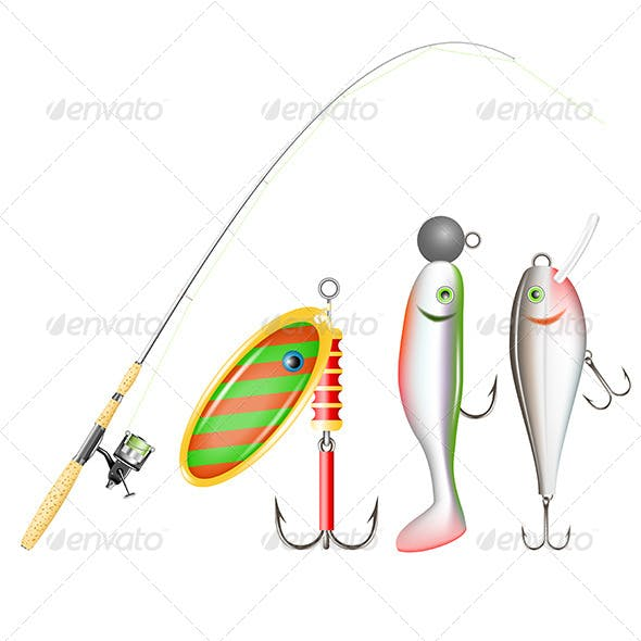 Fishing Rod Reel and Lures