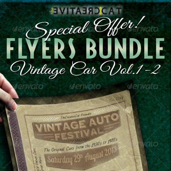 Vintage Car Flyer/Poster Bundle Vol. 1-2